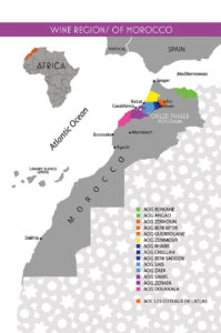 The AOGs and AOCs of Morocco, courtesy of Nomadic Distribution